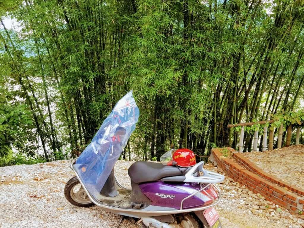 rent scooter guilin, guilin motorbike rental, yangshuo bike riding