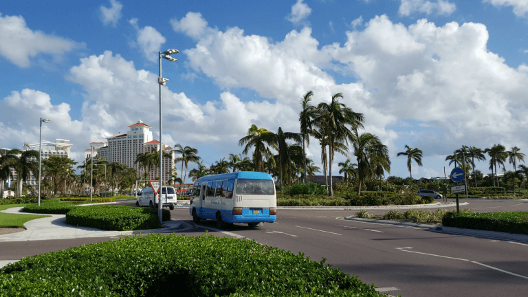 Intersection where the bus will drop you off and pick you up at Cable Beach