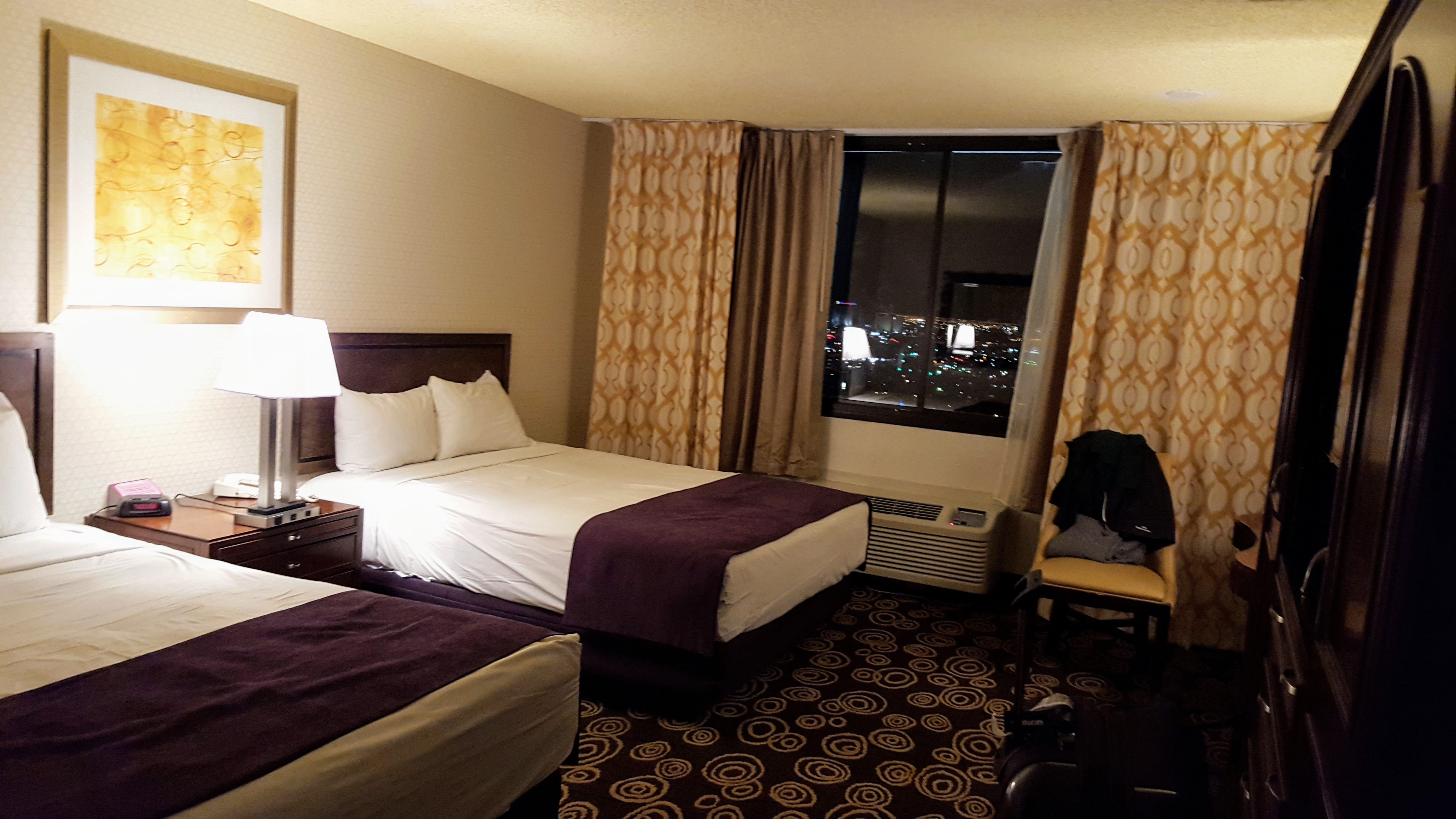 A photo of a Circus Circus hotel room for $26