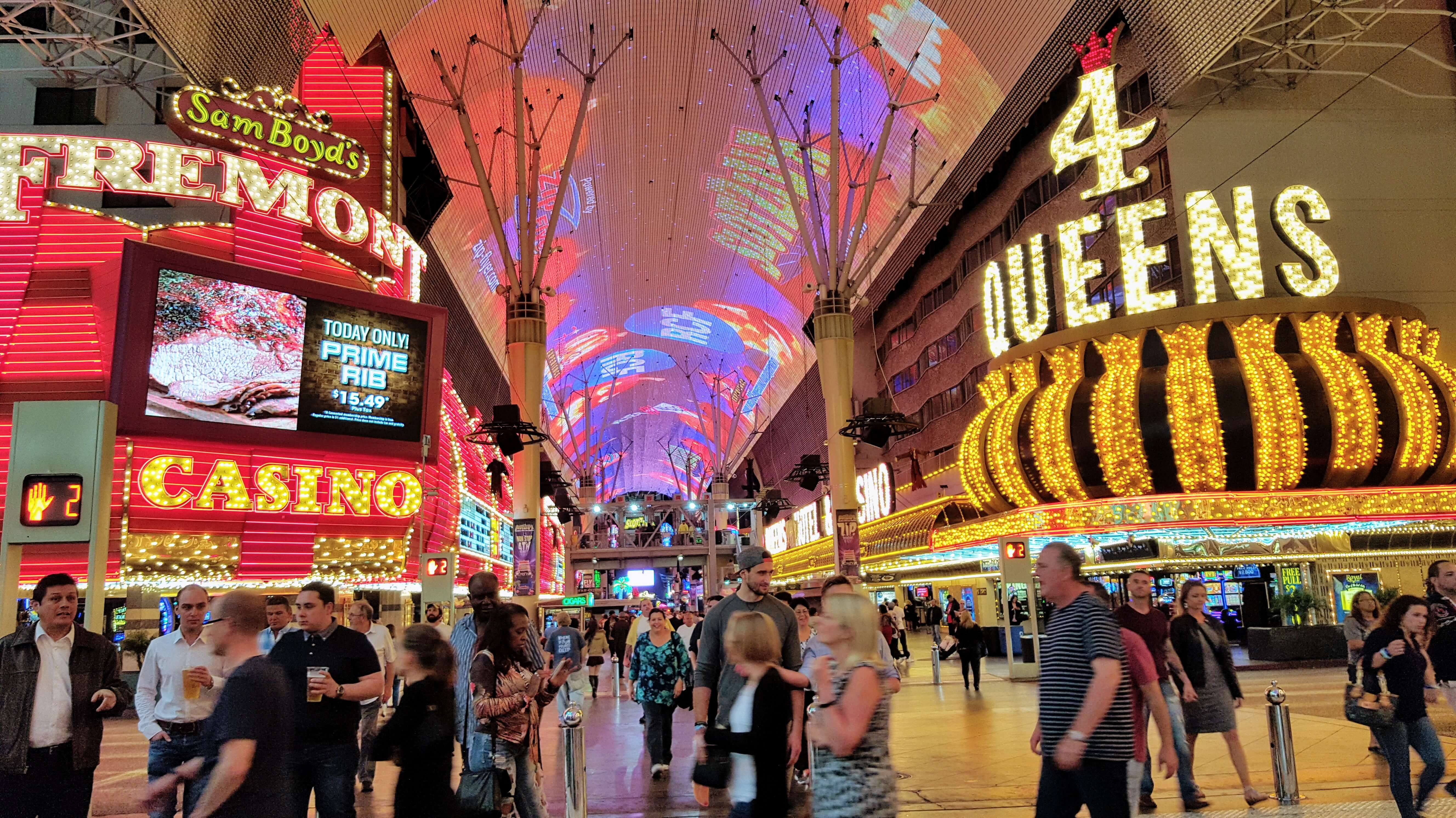 An image of Fremont Street, what we recommend as one of the best affordable things to do in Las Vegas