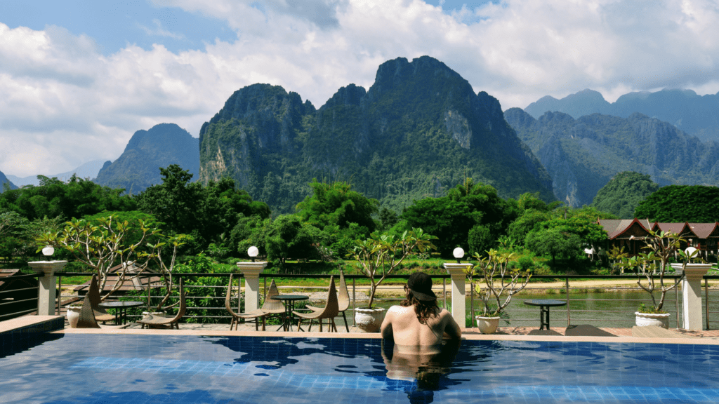 An-image-showing-luxury-accommodation-in-Vang-Vieng