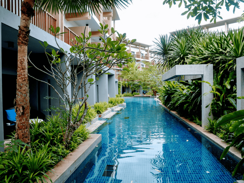 An-image-showing-the-pool-at-Deevana-Plaza-the-best-accomodation-in-Krabi