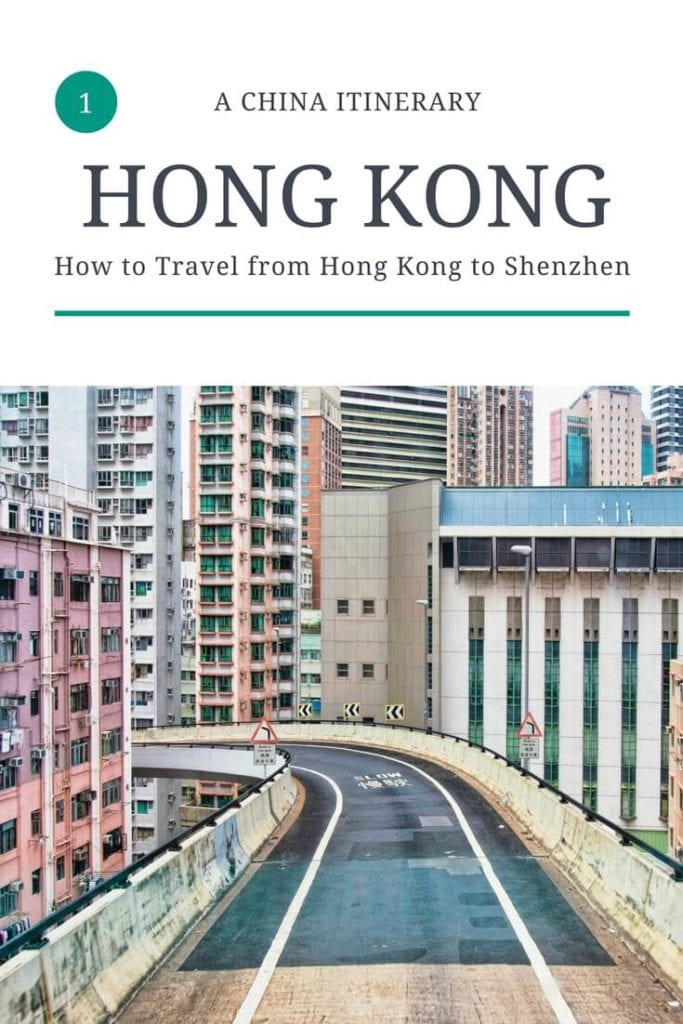 An image of our Pinterest guide for how to travel from Hong Kong to Shenzhen!