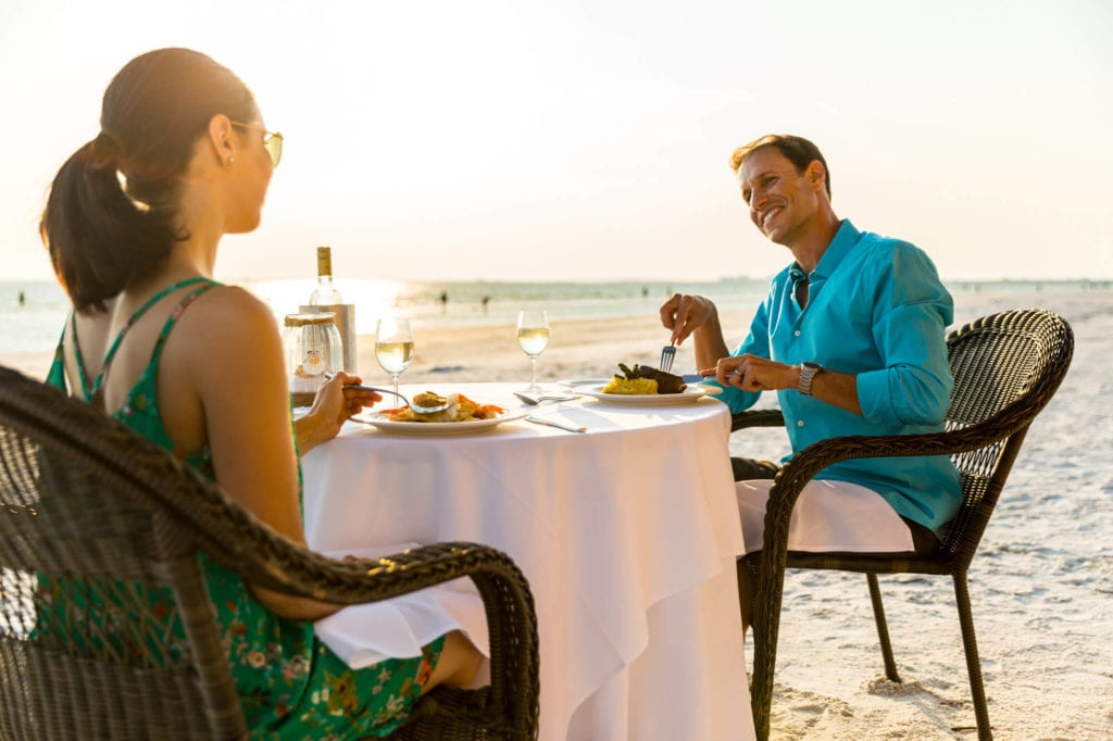 An-image-showing-dinner-on-the-beach