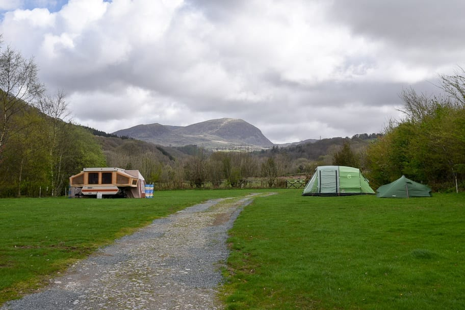 Campsite with Views Snowdonia Wales